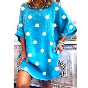 MISSLOOK Oversized Polka Dot Dress Size M NWOT